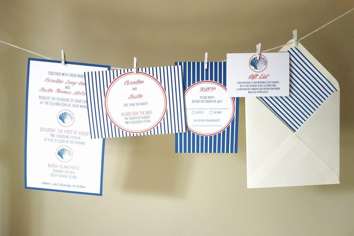 Nautical Invitation Template Free Awesome Diy Free Nautical Wedding Invitation Template
