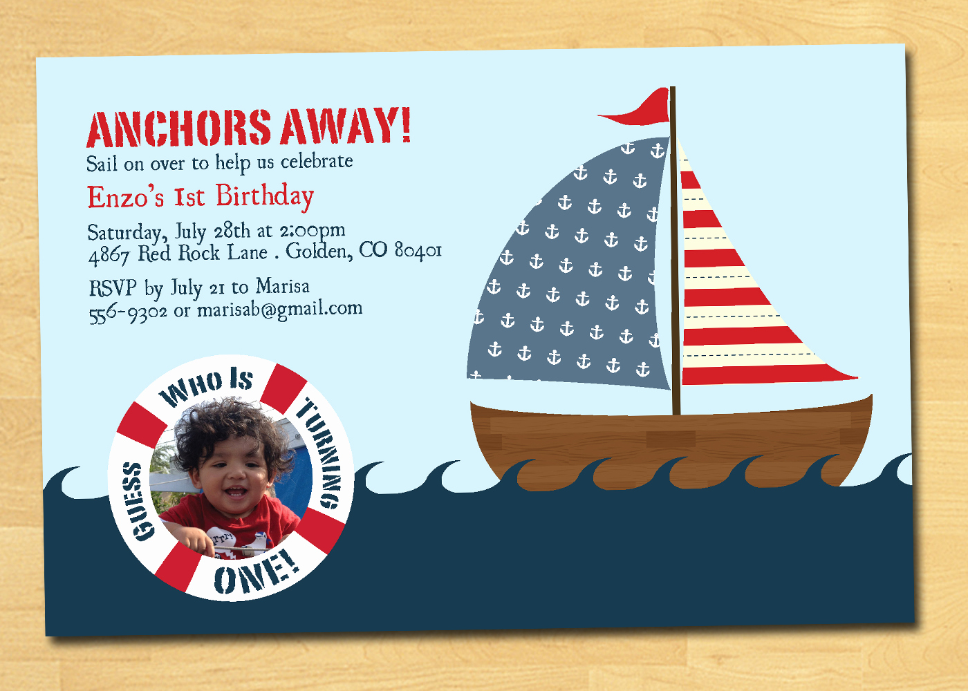 Nautical Invitation Template Free Awesome Nautical Birthday Invitation with by thepaperplume