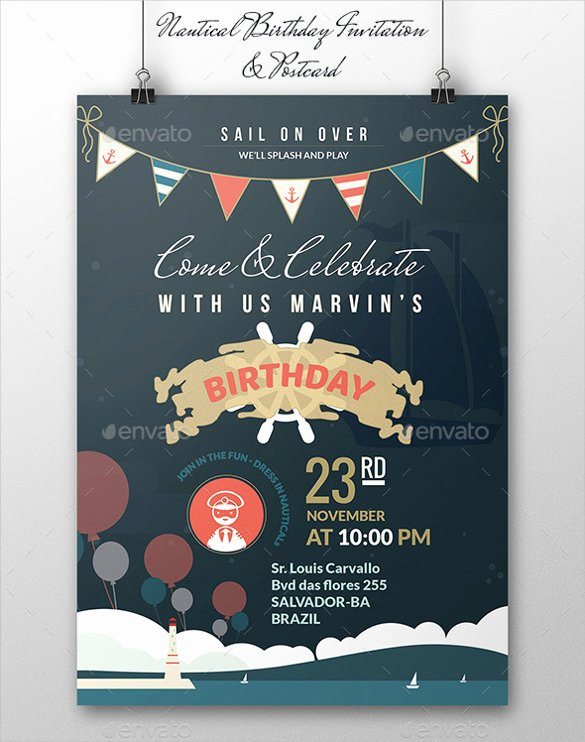 Nautical Invitation Template Free Best Of 29 Birthday Invitation Templates Free Sample Example