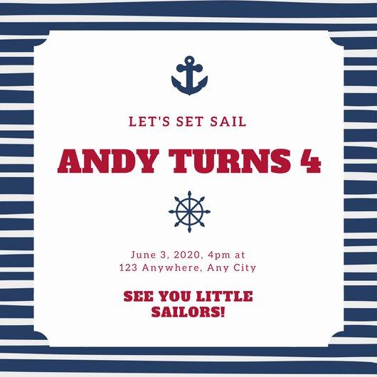 Nautical Invitation Template Free Fresh Customize 79 Nautical Invitation Templates Online Canva