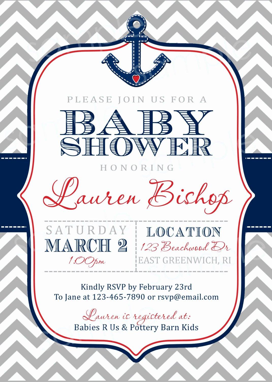Nautical Invitation Template Free Inspirational Nautical Baby Shower Invitations Templates