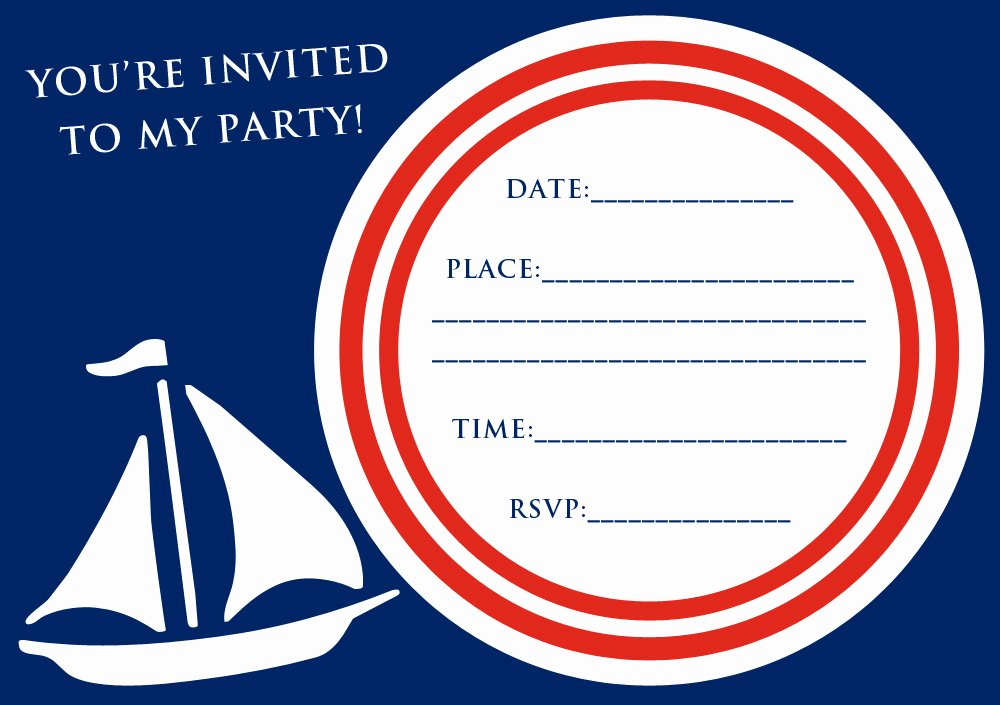 Nautical Invitation Template Free Lovely Free Nautical Party theme Invitation