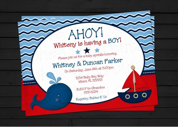 Nautical Invitation Template Free Lovely Items Similar to Ahoy It S A Boy Nautical Baby Shower