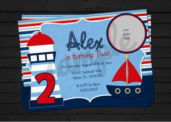 Nautical Invitation Template Free New 40th Birthday Ideas Free Nautical Birthday Invitation