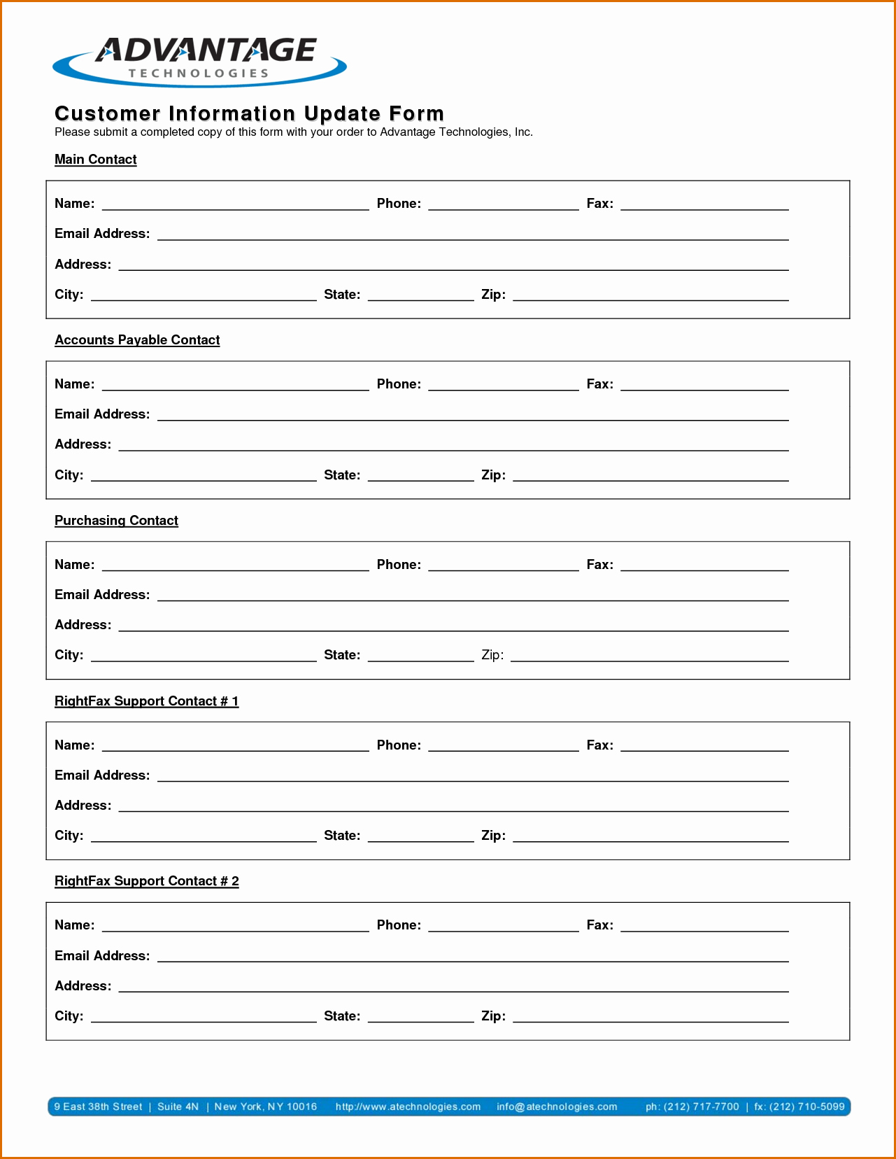 New Customer form Template Free Fresh 13 Customer Information form Template