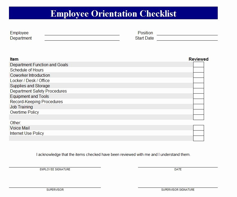 New Hire Training Plan Template Awesome New Employee orientation Checklist Excel – Planner