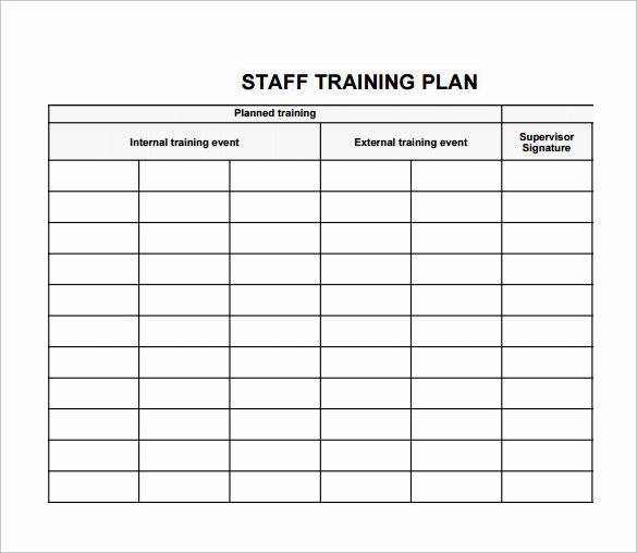 New Hire Training Plan Template Best Of Employee Training Plan Template