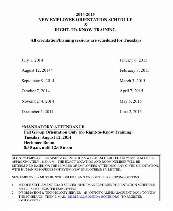 New Hire Training Plan Template Fresh 29 Of New Employee Training Agenda Template
