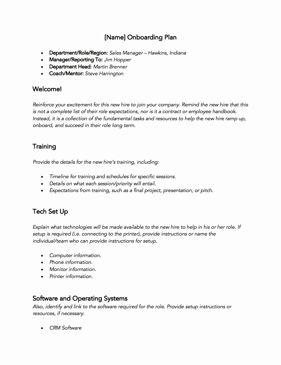 New Hire Training Plan Template Fresh Free Sales Training Template – 30 60 90 Day New Hire Plan