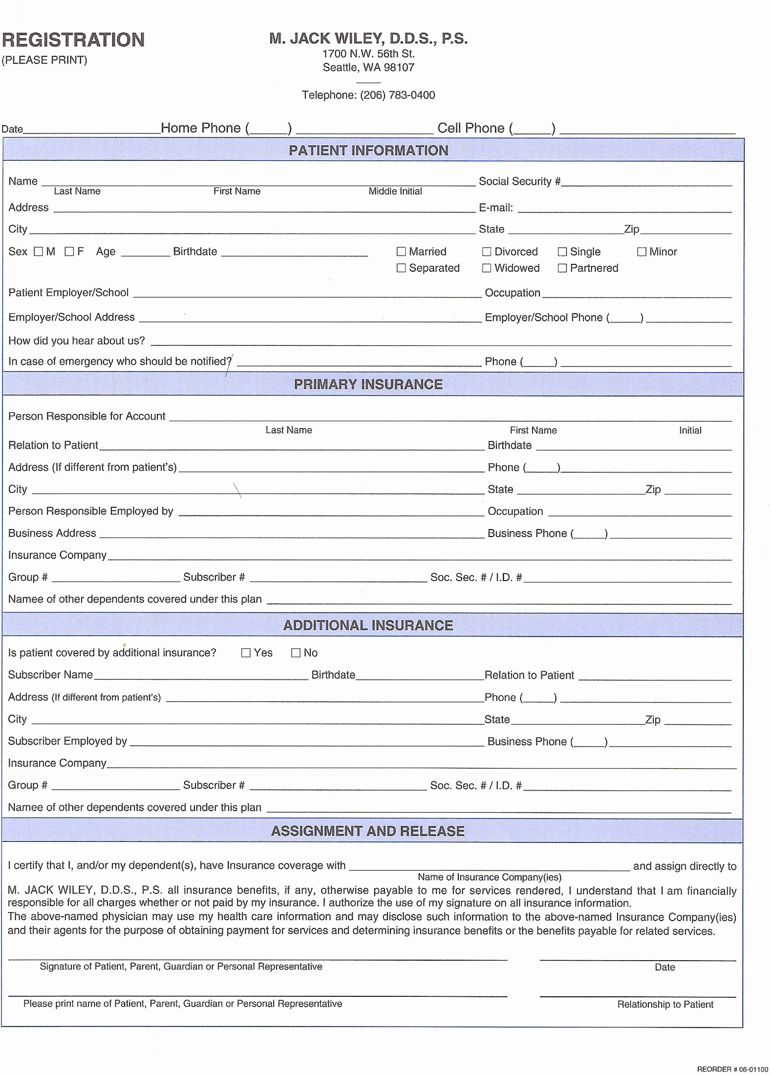 New Patient Registration form Template Beautiful 27 Of Dental New Patient forms Template