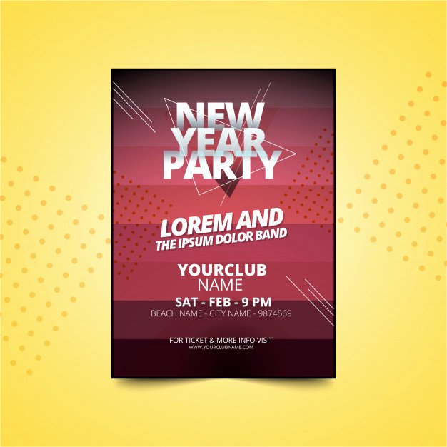 New Year Party Invitation Template Awesome New Year Party Poster or Flyer Invitation Template Vector