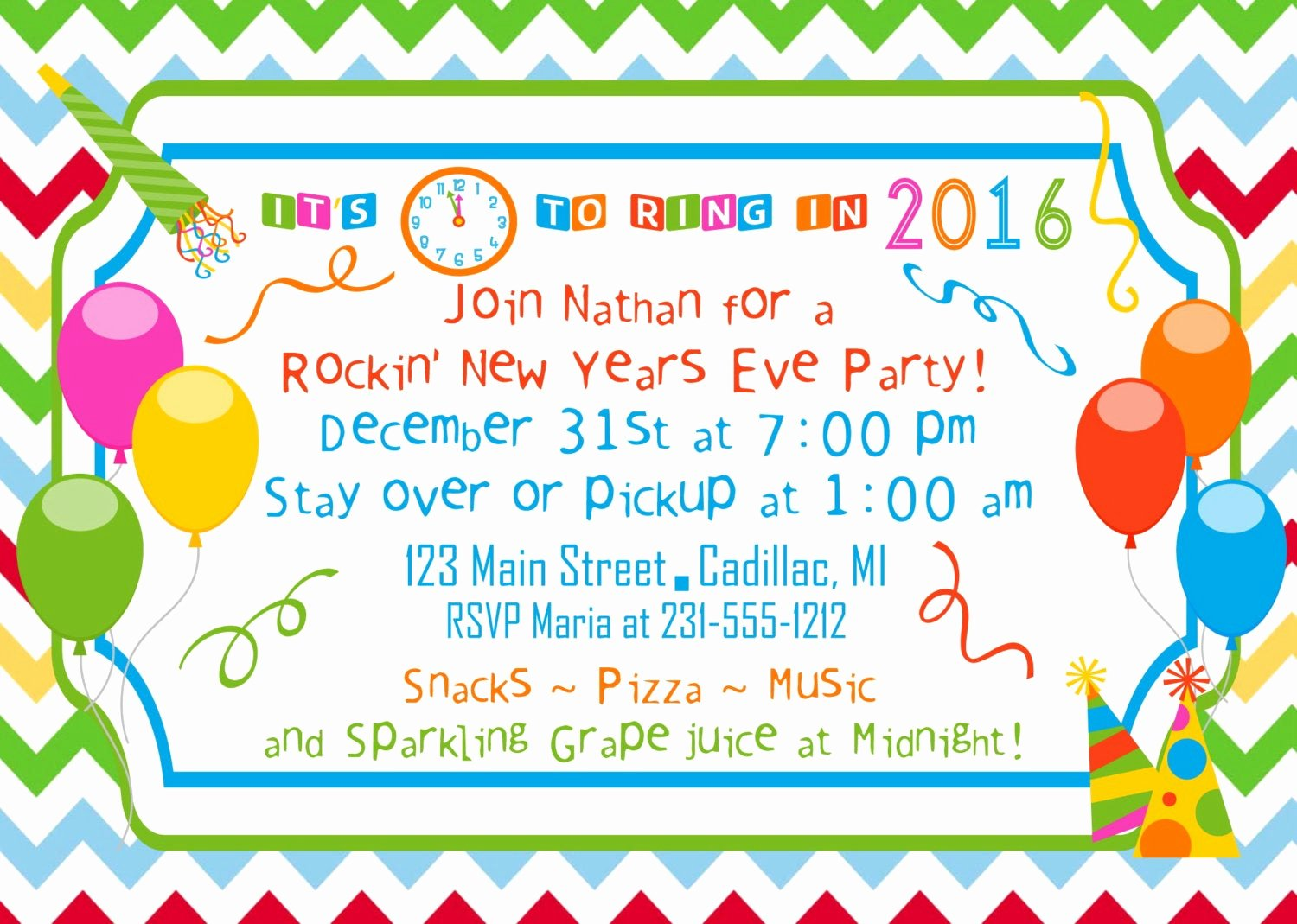 New Year Party Invitation Template Awesome New Year S Party Invitation 2015 Party by Fabpartyprints