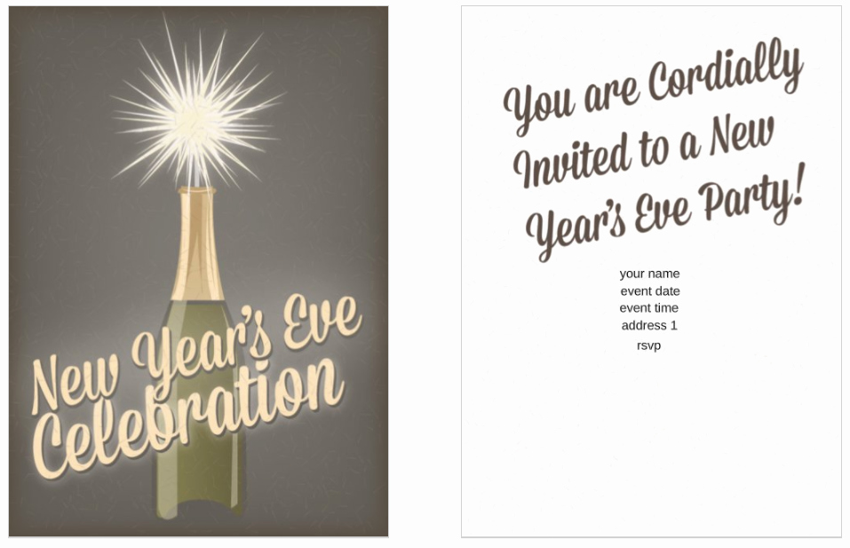 New Year Party Invitation Template Beautiful 10 Free New Year S Eve Party Invitation Templates