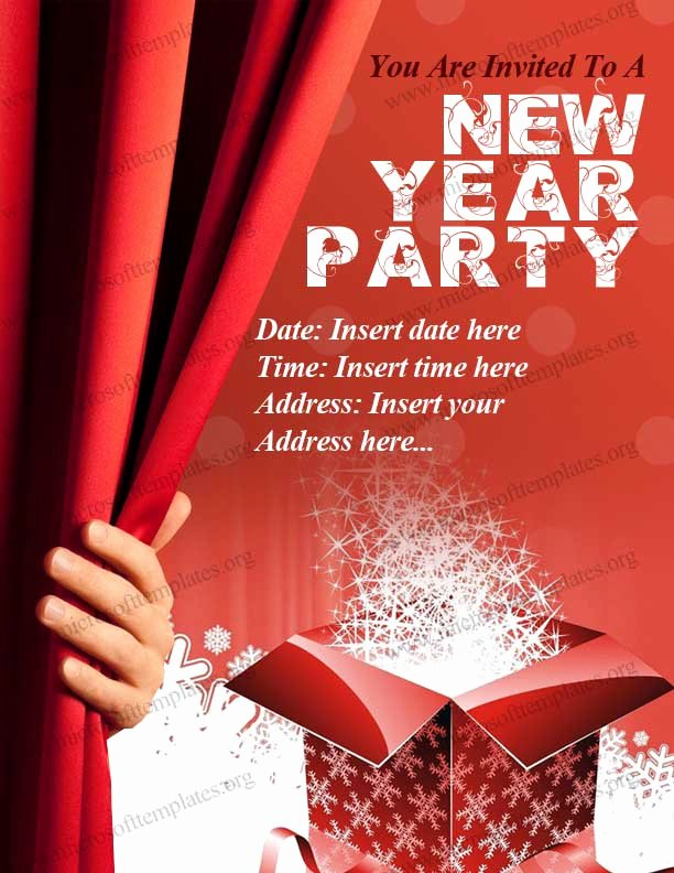 New Year Party Invitation Template Beautiful New Year Party Invitation Template
