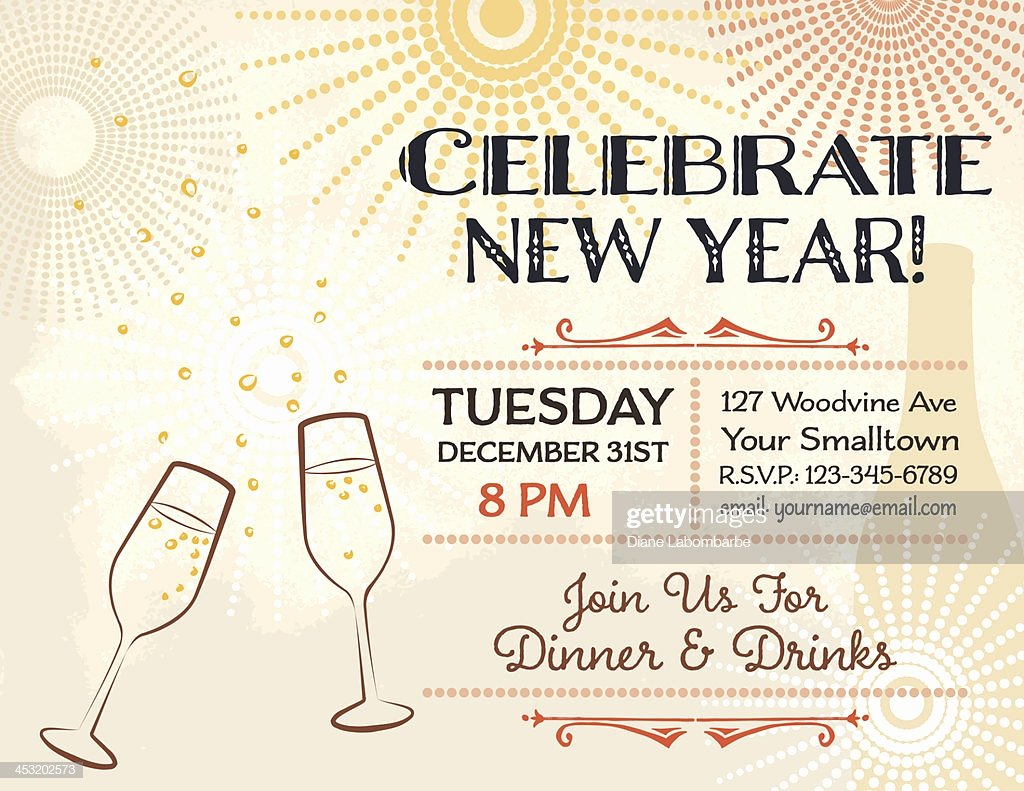 New Year Party Invitation Template Beautiful New Years Eve Party Invitation Template High Res Vector