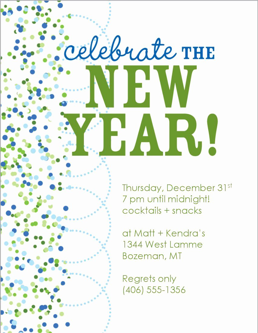 New Year Party Invitation Template Fresh New Year Eve Invitation Templates Free