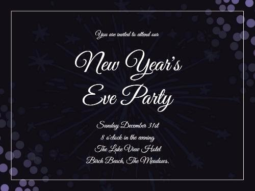 New Year Party Invitation Template Fresh New Years Eve Day Create Perfect Invitations with Design