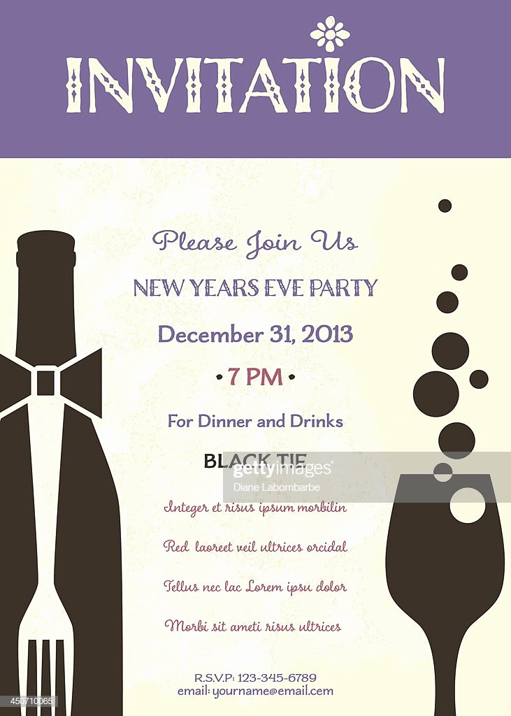 New Year Party Invitation Template Inspirational New Years Eve Party Invitation Template Vector Art