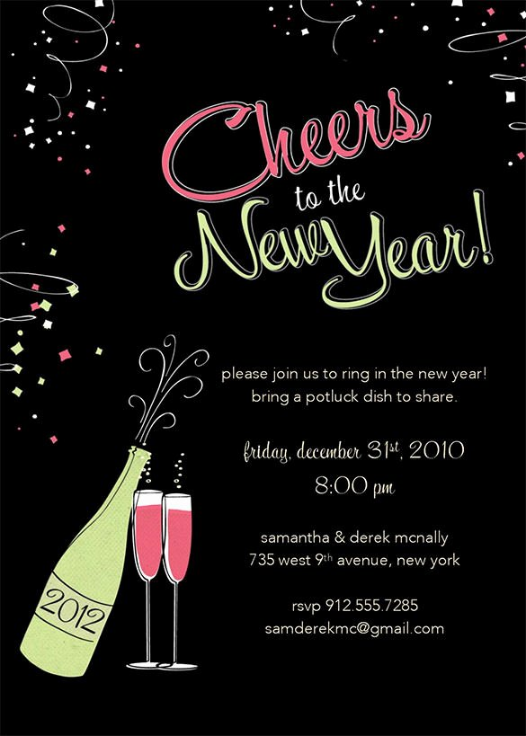 New Year Party Invitation Template Lovely 28 New Year Invitation Templates – Free Word Pdf Psd