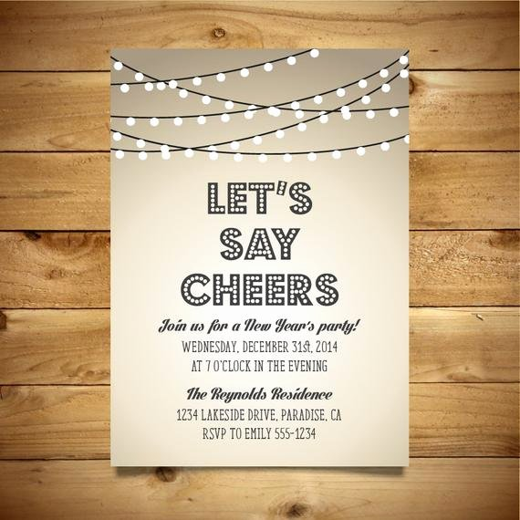 New Year Party Invitation Template Lovely Printable New Year S Party Invitation Vintage Style