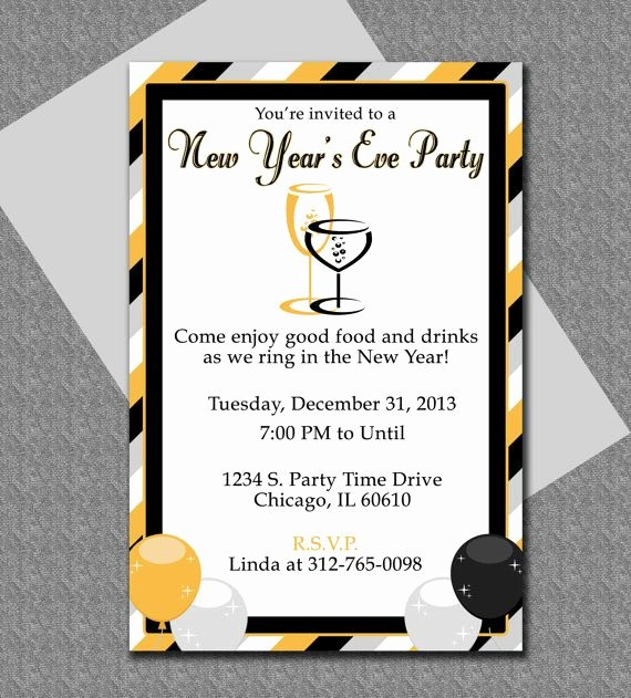 New Year Party Invitation Template Lovely Ring In the New Year with This Cute Microsoft Word
