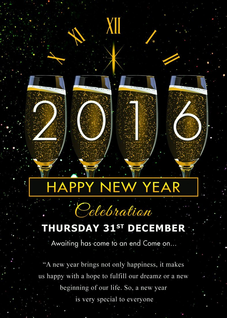 New Year Party Invitation Template Luxury 30 New Year Greeting Card Templates Free Psd Eps Ai