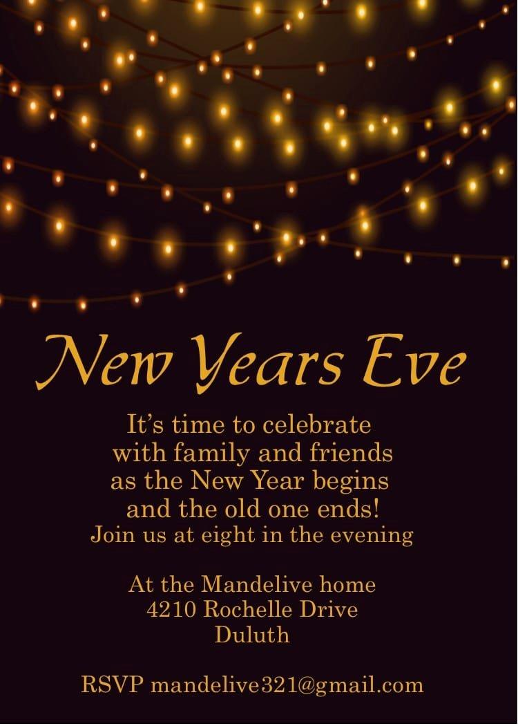 New Year Party Invitation Template Luxury New Year Celebration Invitation