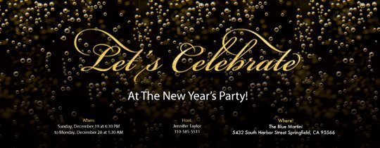 New Year Party Invitation Template Luxury New Year S Eve Party Invitations