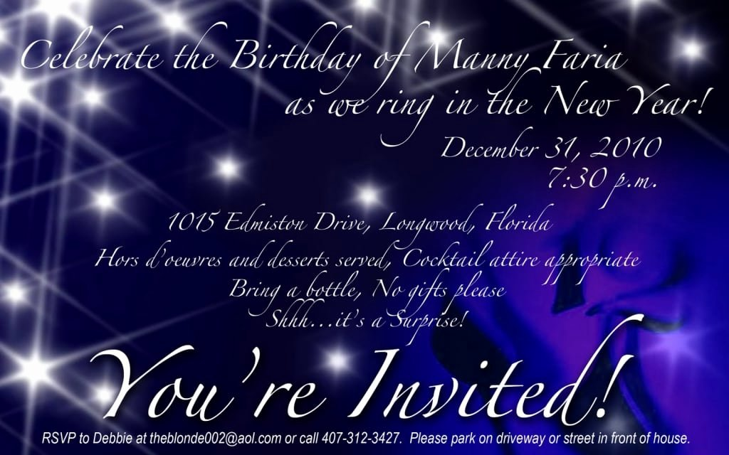 New Year Party Invitation Template New New Years Eve Party Invitation