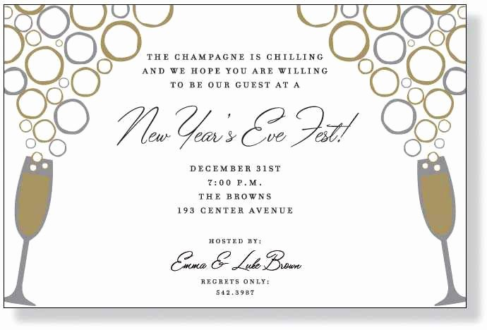 New Year Party Invitation Template New Nye Party Invitation