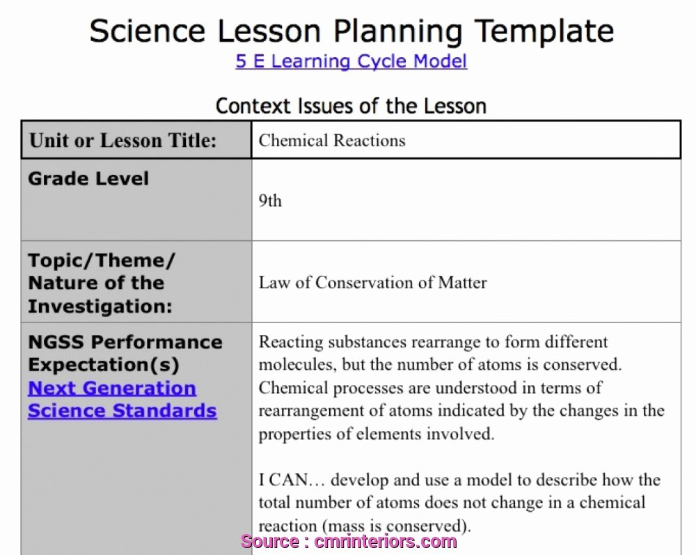 Ngss Lesson Plan Template Fresh 7 Practical Ngss Lesson Plan Template Ehlschlaeger