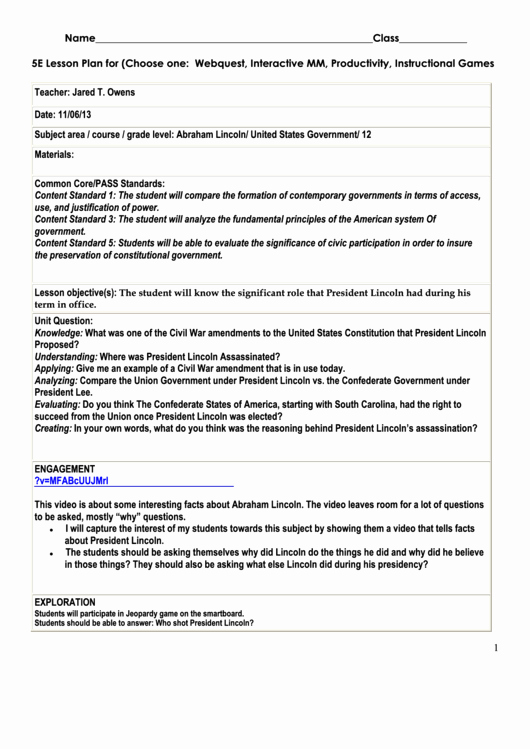 Ngss Lesson Plan Template New top 6 5e Lesson Plan Templates Free to In Pdf format