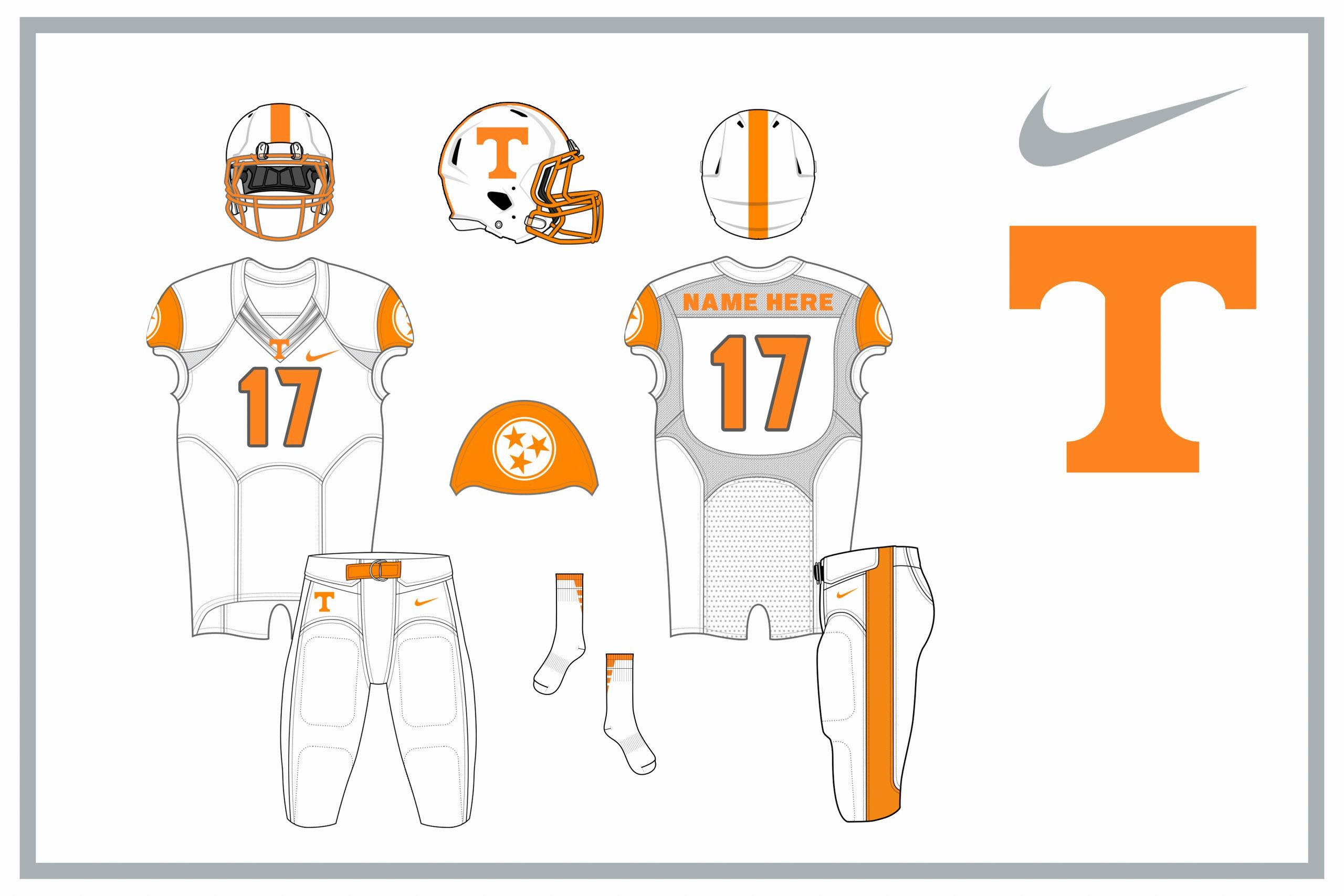 Nike Football Uniform Template Awesome Vol Nike Alternate Uniform Designs