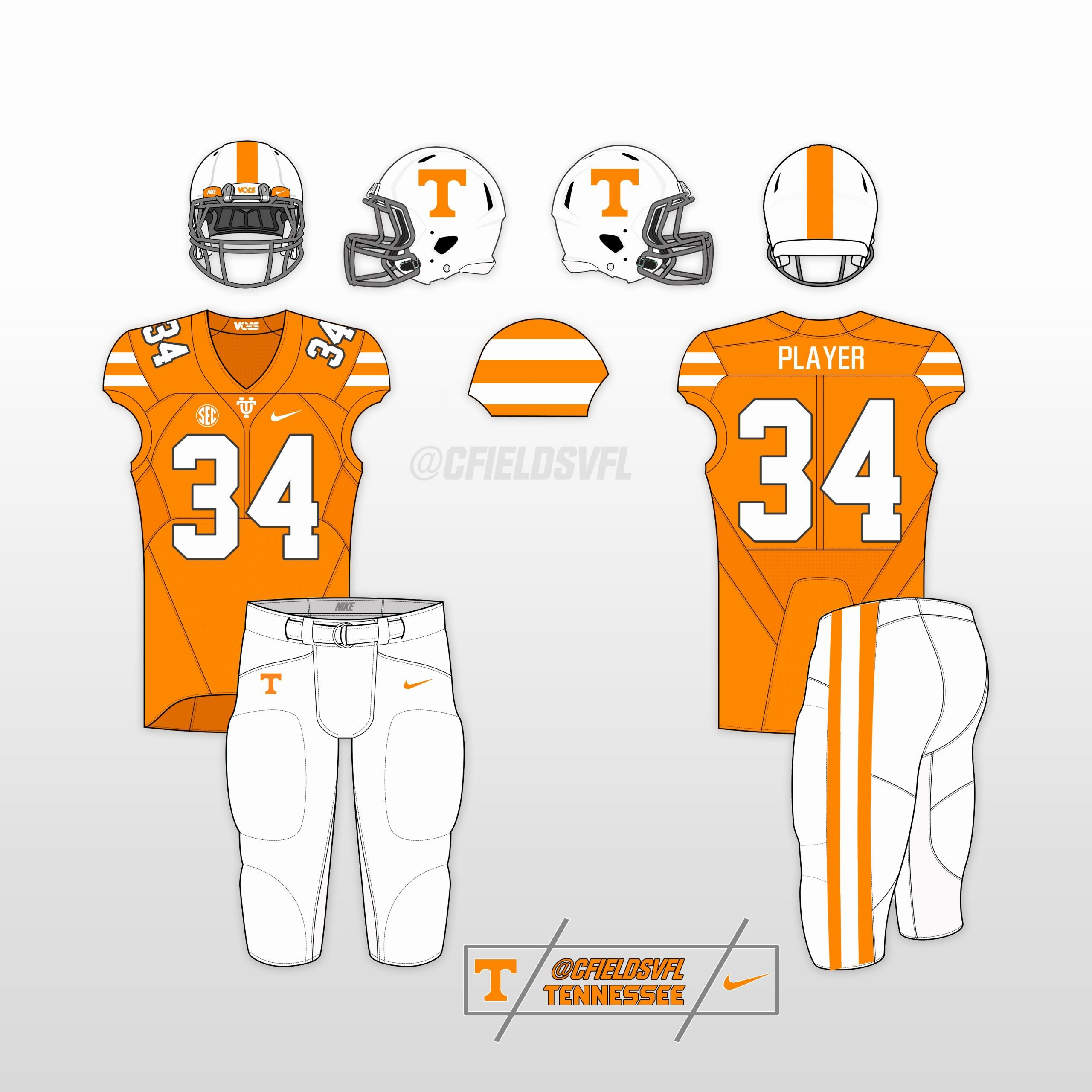 Nike Football Uniform Template Beautiful Vol Alternate Uniform Options