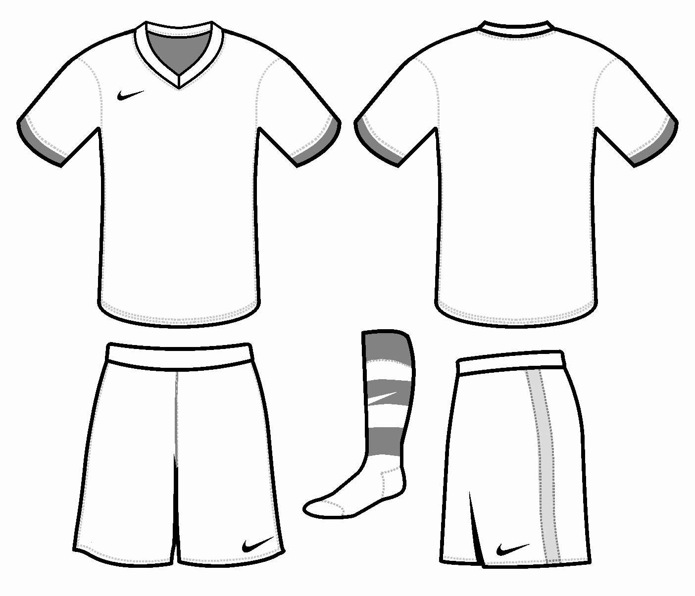 Nike Football Uniform Template Fresh Free Blank soccer Jersey Template Download Free Clip Art