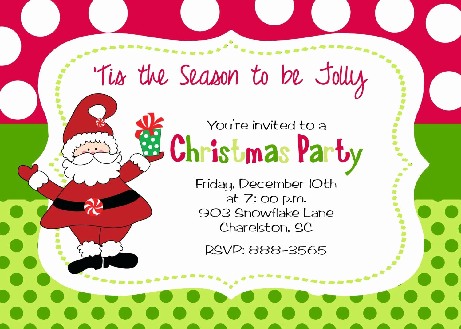 Office Christmas Party Invitation Template Beautiful Christmas Party Invitation by Stickerchic Etsy