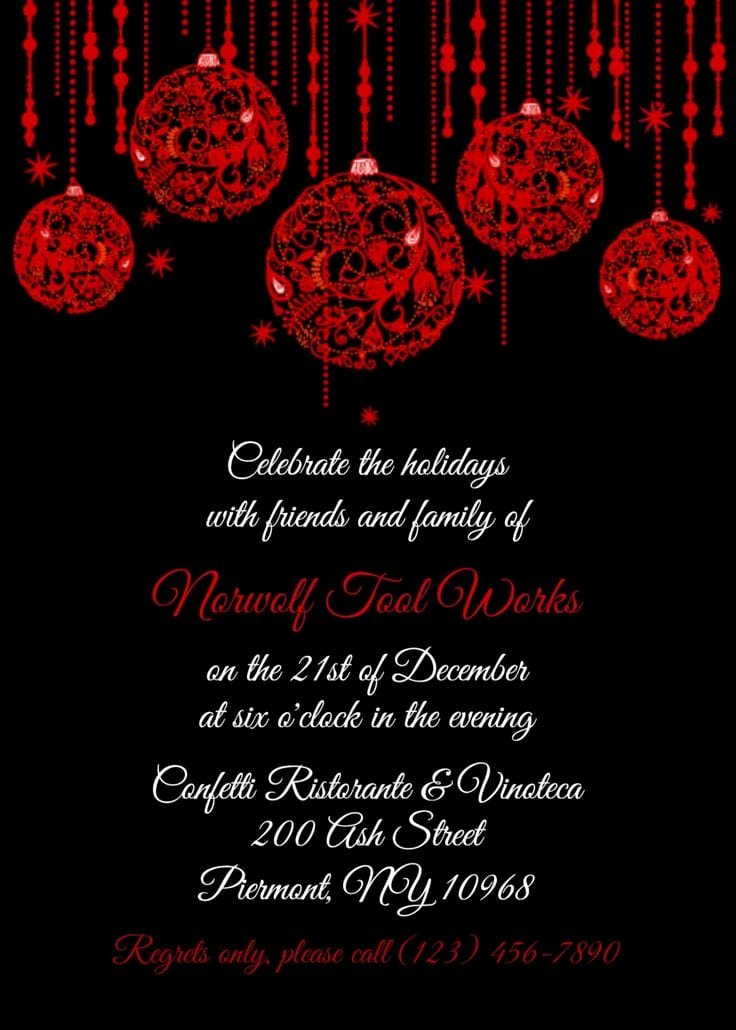 Office Christmas Party Invitation Template Best Of Fice Christmas Party Invitation Templates Free