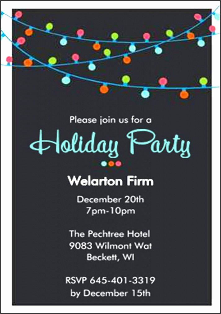 Office Christmas Party Invitation Template Elegant 8 Pany Party Invitation Template Sampletemplatess