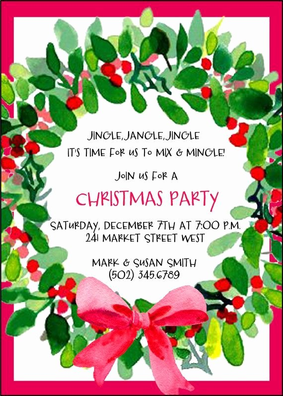 Office Christmas Party Invitation Template Fresh Pin by Anggunstore On Invitations Card by Silverlining