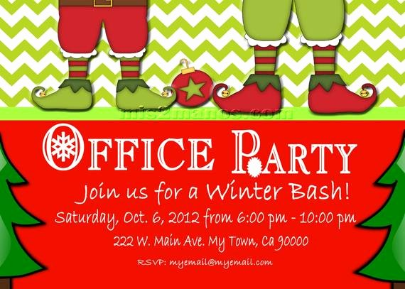 Office Christmas Party Invitation Template Lovely Christmas Fice Party Invite Printable Personalized Season