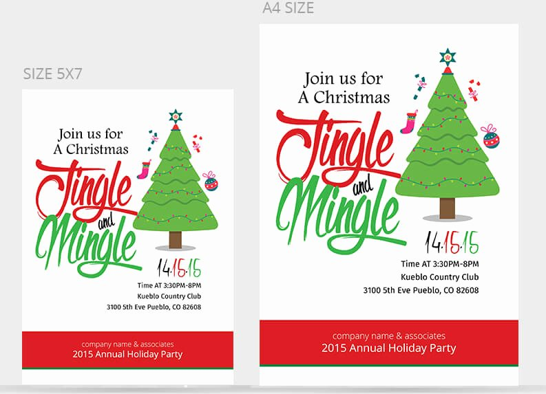 Office Christmas Party Invitation Template Lovely Christmas Party Flyer Templates & Psd Designs