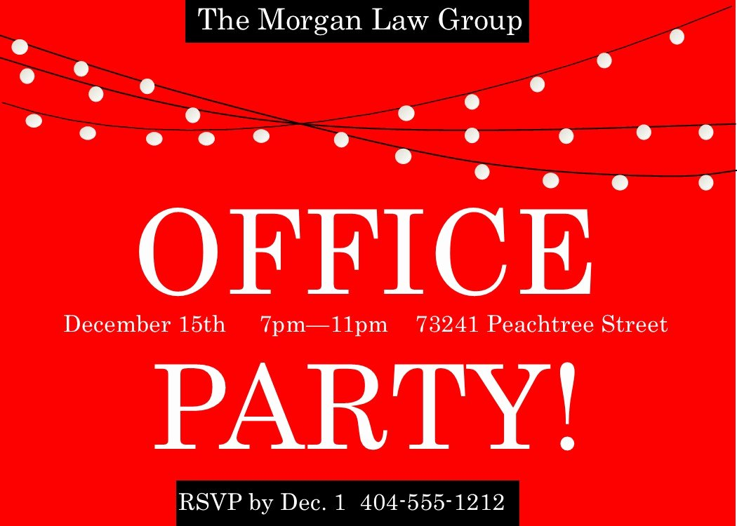 Office Christmas Party Invitation Template New Fice Holiday and Christmas Party Invitations 2017