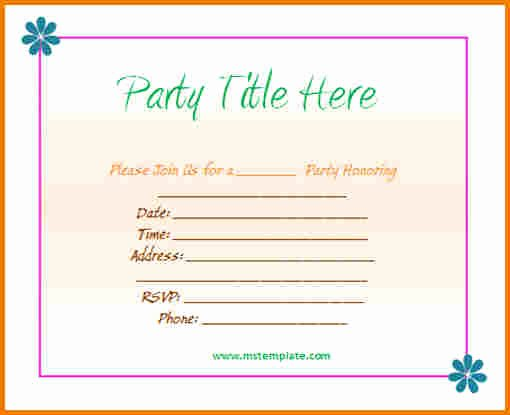 Office Party Invitation Template Awesome Download Microsoft Fice Templates for Obituaries