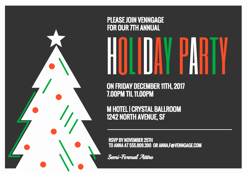 Office Party Invitation Template Awesome Fice Holiday Party Invitation