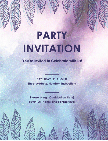 Office Party Invitation Template Awesome Party Invitation Flyer