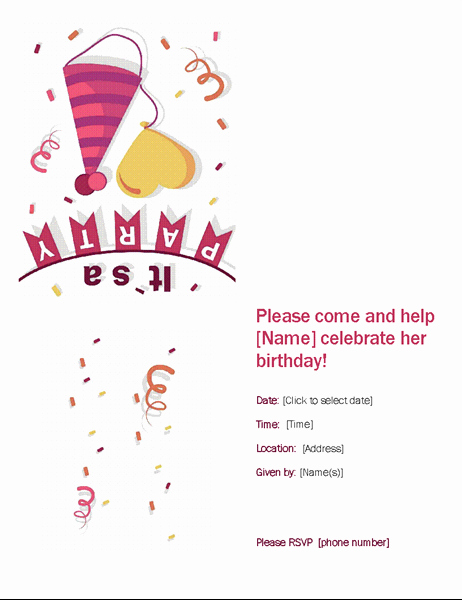 Office Party Invitation Template Fresh Birthday Party Invitation