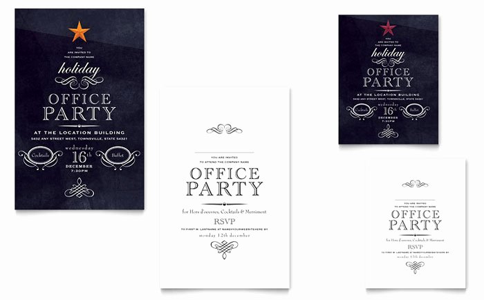 Office Party Invitation Template Lovely Fice Holiday Party Graphic Design Ideas