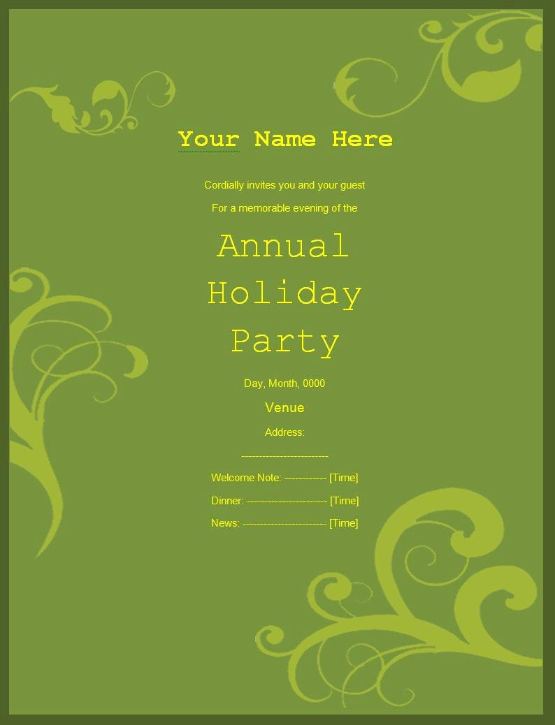 Office Party Invitation Template Lovely Party Invitation Templates