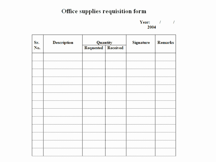 Office Supply order form Template New 4 Requisition form Templates Excel Xlts