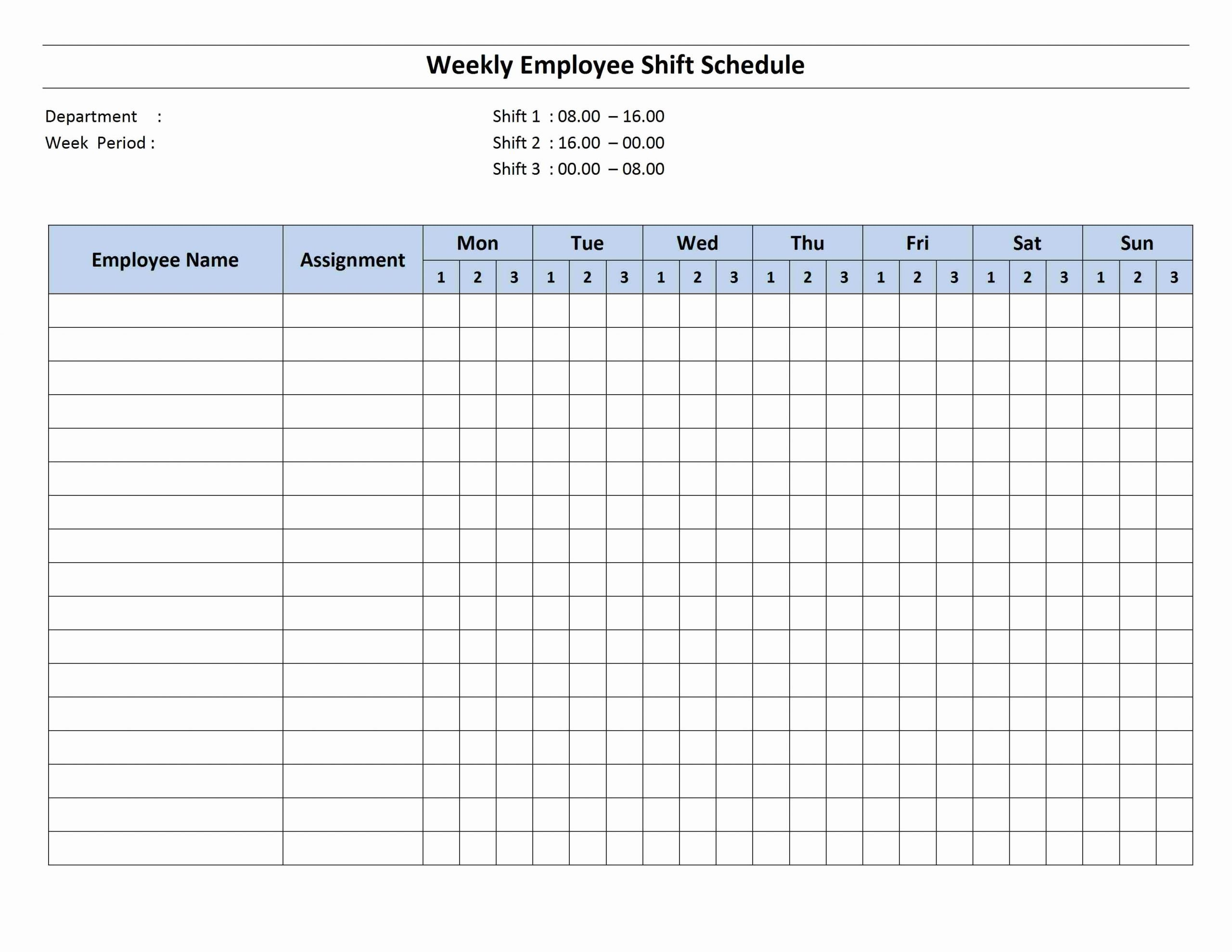One Day Schedule Template Beautiful 8 Hour Shift Schedule Template